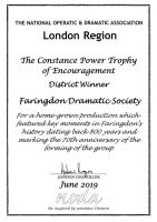 Faringdon Follies 2018 Certificate