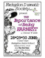 FDS - The Importance of Being Earnest poster
