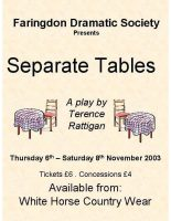 FDS - Separate Tables poster